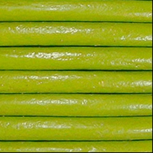 3mm Round Euro Leather Cord - Pistachio - per inch
