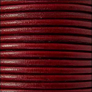 3mm Round Euro Leather Cord - Bordeaux