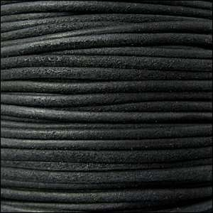 Suede 3mm ROUND Leather Cord - Black