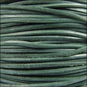 Suede 3mm ROUND Leather Cord - Dark Teal
