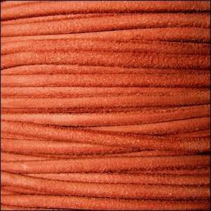 Suede 3mm ROUND Leather Cord - Orange