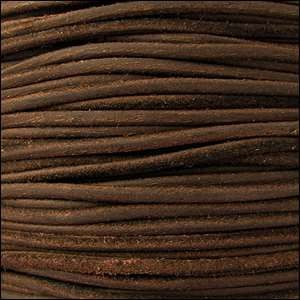 Suede 3mm ROUND Leather Cord - Brown