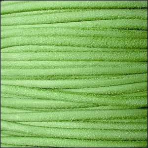 Suede 3mm ROUND Leather Cord - Apple Green