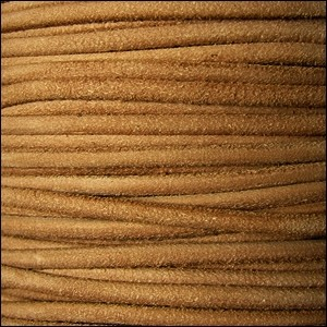 Suede 3mm ROUND Leather Cord - Camel