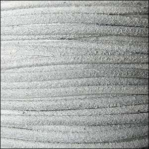 Suede 3mm ROUND Leather Cord - Light Grey