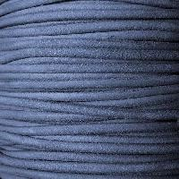 Suede 3mm ROUND Leather Cord - Denim