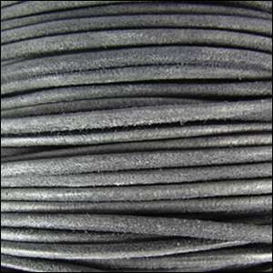 Suede 3mm ROUND Leather Cord - Grey