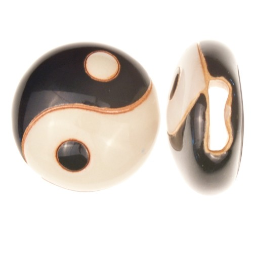 Golem Studio Slider Flat 10mm Round Yin and Yang - Black / Cream