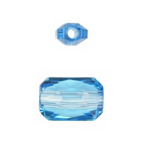 Swarovski 5627 16mm Emerald Cut Large Hole Bead - Aquamarine