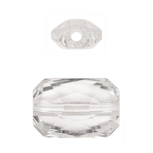 Swarovski 5627 22mm Emerald Cut Large Hole Bead - Crystal