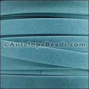 Arizona 5mm Flat Leather Cord - Turquoise - per inch