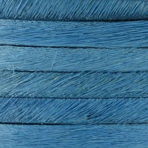 5mm flat HAIR ON leather SKY BLUE
