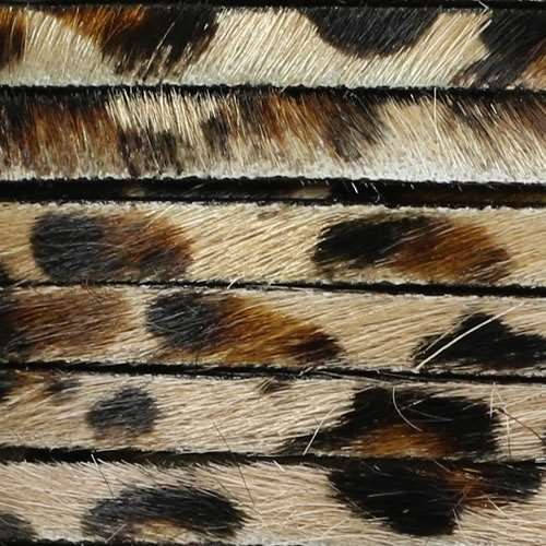 5mm flat HAIR ON leather LEOPARD