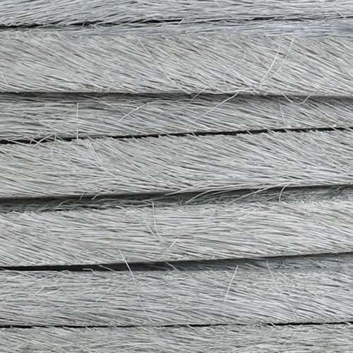 5mm flat HAIR ON leather GREY