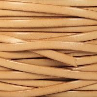5mm Flat Leather Cord - Natural