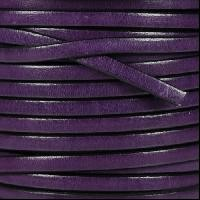Leather Flat 5mm - Deep Purple