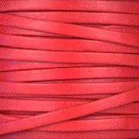 Olde English 5mm Flat Leather Cord - Cherry - per inch