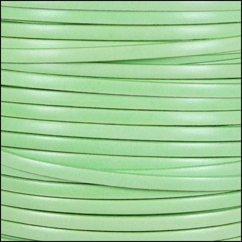 Italian Dolce 5mm Flat Leather Cord - Cucumber