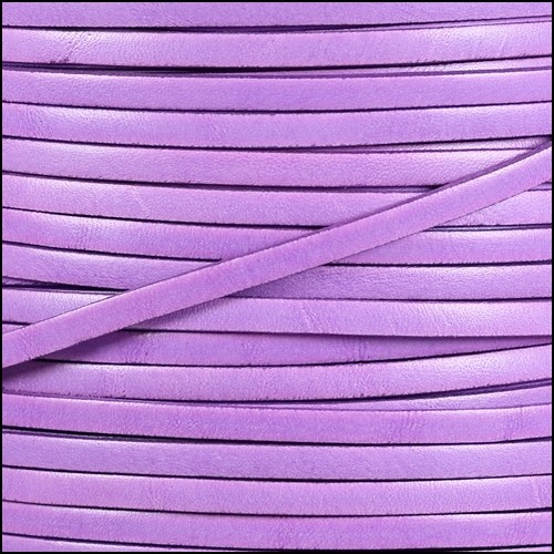 Italian Dolce 5mm Flat Leather Cord - Petunia - per inch