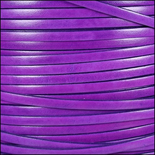 Italian Dolce 5mm Flat Leather Cord - Violet