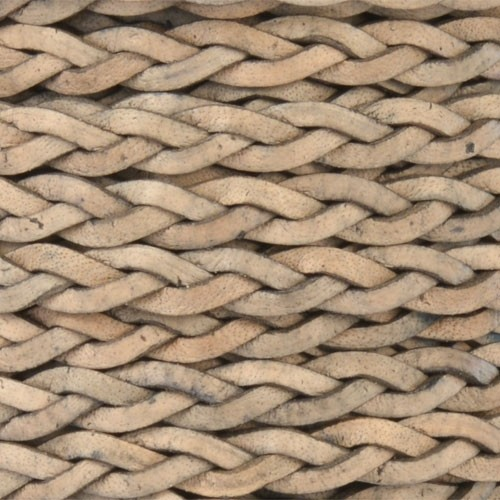 Braided 5mm FLAT Leather Cord - Natural Gray
