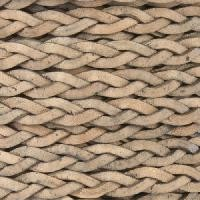 Braided 5mm FLAT Leather Cord - Natural Gray - per inch
