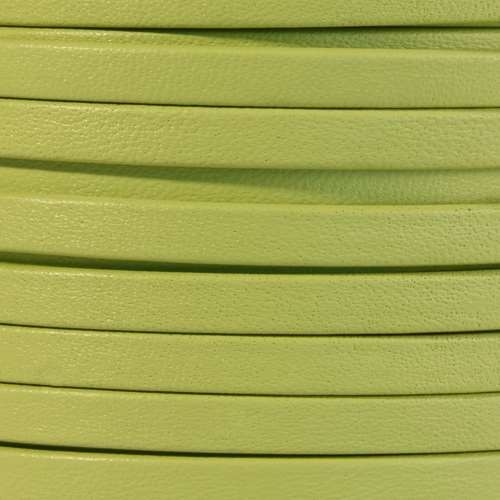 Mexican 5mm Flat Leather Cord - Key Lime