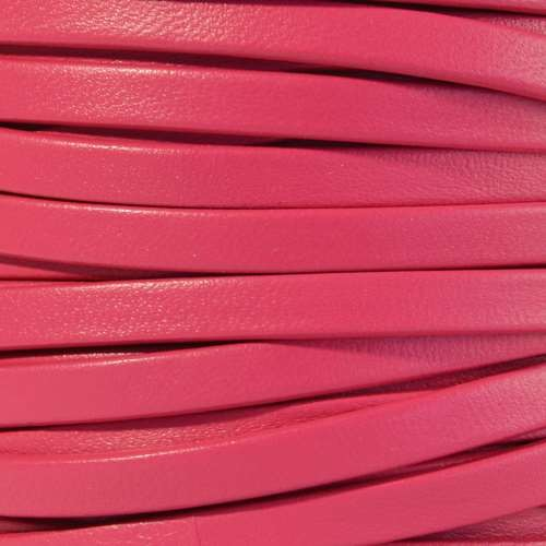 Mexican 5mm Flat Leather Cord - Fuchsia