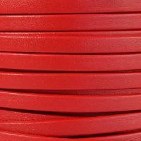 Mexican 5mm Flat Leather Cord - Red - per inch