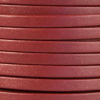 Mexican 5mm Flat Leather Cord - Burgundy - per inch