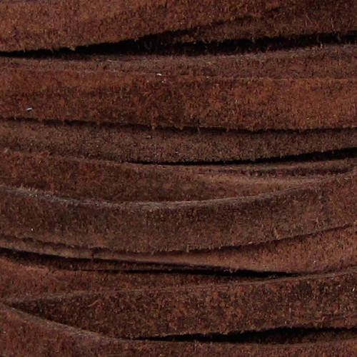 Suede 5mm Flat Cord - Brown