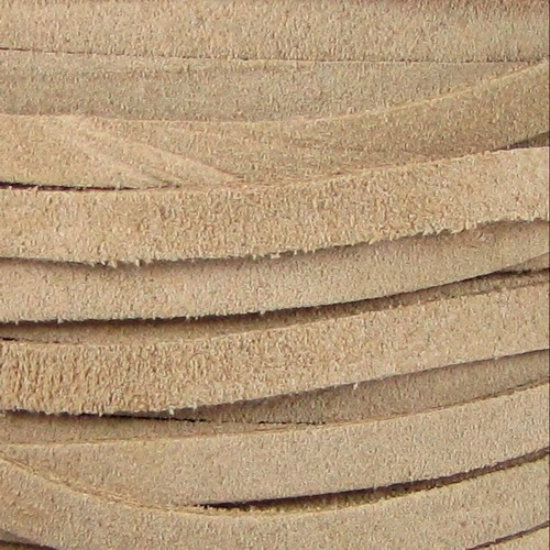 Suede 5mm Flat Cord - Taupe