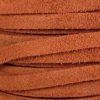 Suede 5mm Flat Cord per 5 Meters - Medium Brown