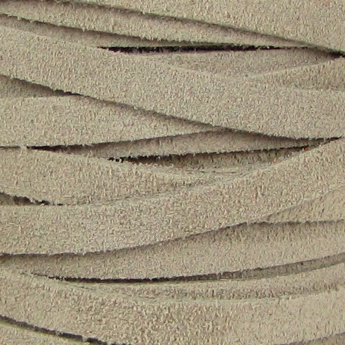 Suede 5mm Flat Cord - Sand