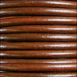 Euro 5mm Round Leather Cord - Tobacco