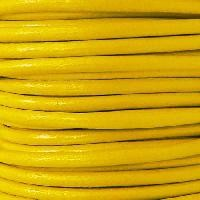 Euro 5mm Round Leather Cord - Yellow - per inch