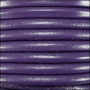 Euro 5mm Round Leather Cord - Purple