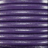 Euro 5mm Round Leather Cord - Purple - per inch