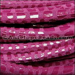 Cancun 5mm ROUND Leather Cord - Cerise