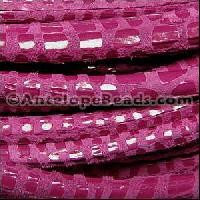 Cancun 5mm ROUND Leather Cord - Cerise - per inch
