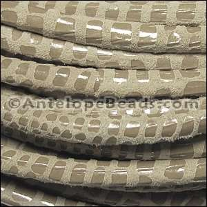 Cancun 5mm ROUND Leather Cord - Beige