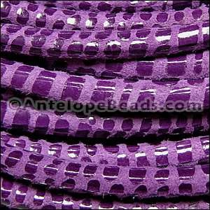 Cancun 5mm ROUND Leather Cord - Mauve