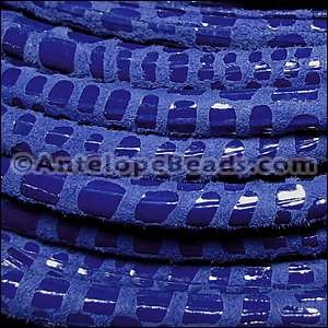Cancun 5mm ROUND Leather Cord - Royal Blue