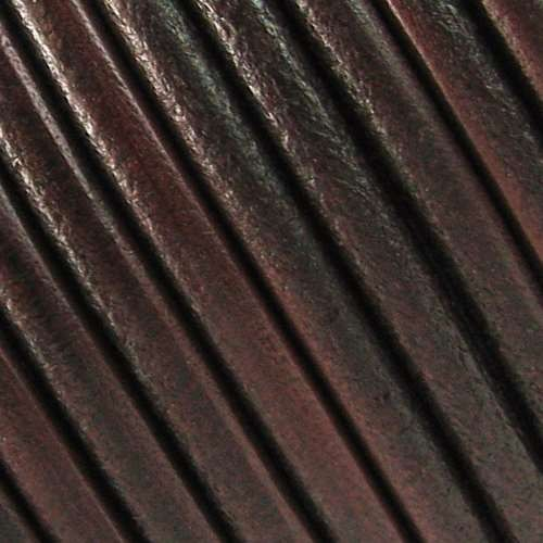 Lux 5mm Round Leather Cord - Distressed Brown - per inch