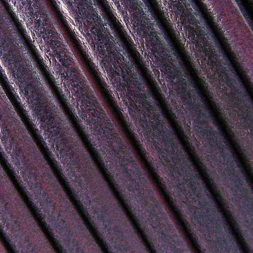 Lux 5mm Round Leather Cord - Purple