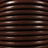 Premier Italian 5mm Round Leather Cord - Dark Brown