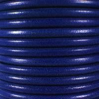Premier Italian 5mm Round Leather Cord - Dark Electric Blue - per inch