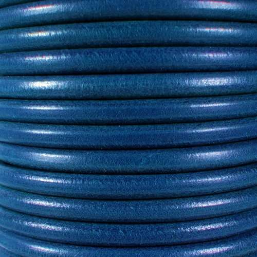Premier Italian 5mm Round Leather Cord - Blue