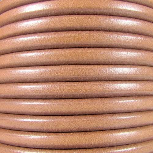 Premier Italian 5mm Round Leather Cord - Natural