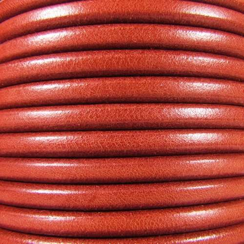 Premier Italian 5mm Round Leather Cord - Orange